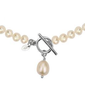 Collier perles de culture naturelles prestige goutte perle blanche