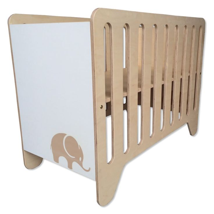 Modern Cot with carved elephant detail