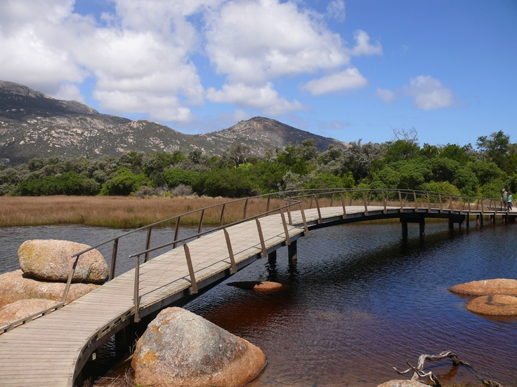 Bridge over Tidal River, Wilsons Promontory, VIC, Australia