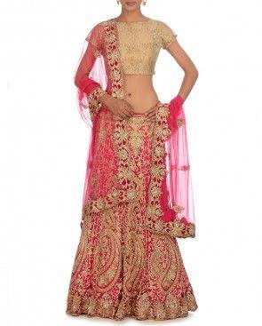 Fuchsia Lehenga Set by exclusively in $1859.00 2014.  Bridal lehenga Bridal Lengha, Indian wedding clothes