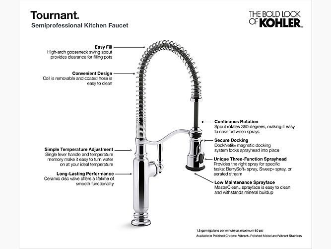 SEMIPROFESSIONAL KITCHEN SINK FAUCET