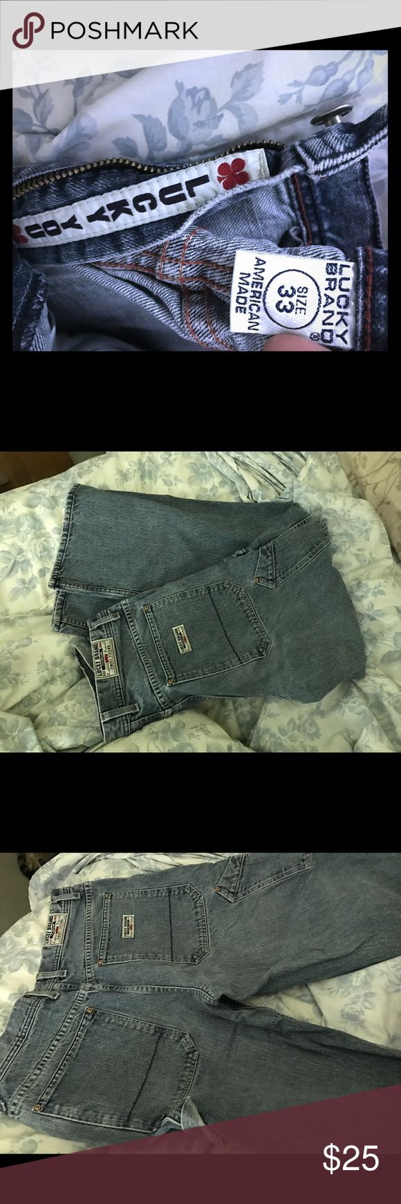 """Men's 33 Lucky Jeans hard to find """"Daytona"""" cut Lucky you! These Men's 33s are in excellent condition- he says he never wore them as he has so many pairs. Enjoy! Lucky Brand Jeans"""