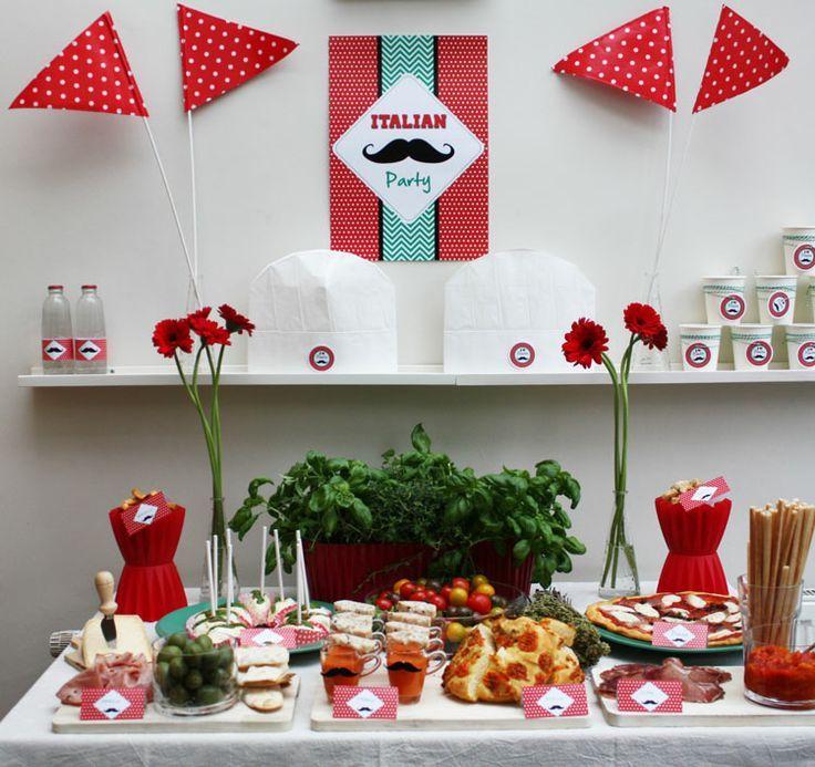 Fiesta italiana buscar con google pinteres for Decoracion italiana