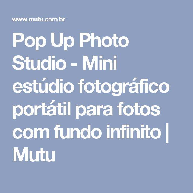 Pop Up Photo Studio - Mini estúdio fotográfico portátil para fotos com fundo infinito | Mutu