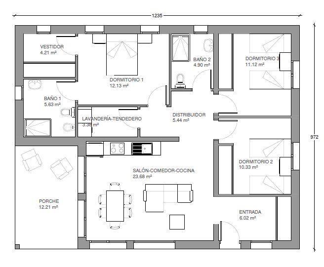 1000 ideas about plan maison 120m2 on pinterest plain for Plan maison 120m2
