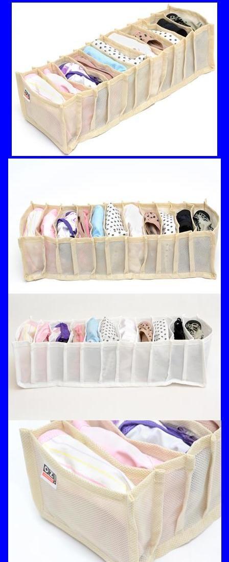 Organizador de Calcinhas para Gavetas. Ideal para guardar roupas íntimas, meias, biquinís e sutiãs, fabricado em TNT que permite a ventilação das peças. também é fácil de lavar. Possui 11 nichos para que deixe as gavetas organizadas e com uma clara visualização das peças. Separe as roupas íntimas e meias. Guarde também roupas de ginástica, como tops, ou acessórios, como lenços. Organize as peças por cor, tipo, ocasião... Dimensões aprox: 10 cm(A) x 13 cm(L) x 38cm(P)