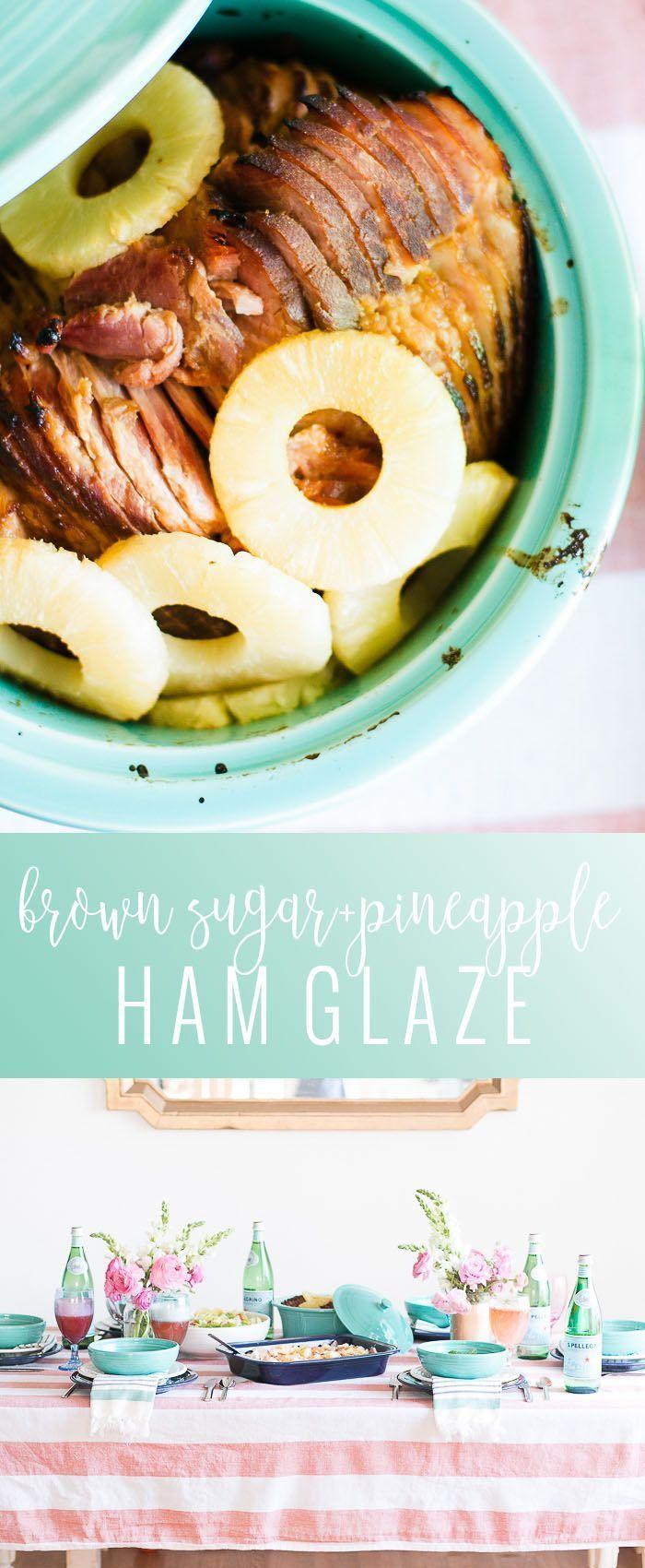 Brown Sugar and Pineapple Ham Glaze | easy ham glaze recipe | easter ham recipes | brown sugar ham glaze | homemade ham glaze || Oh So Delicioso #brownsugarglaze #hamglaze #easterham