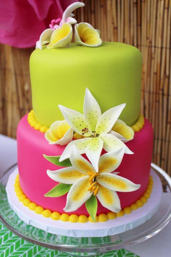 Theme Birthday Cakes Beach Happy