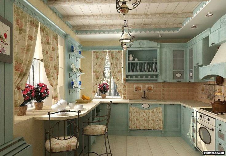 Кухня в стиле прованс — керамика и цветная глазурь