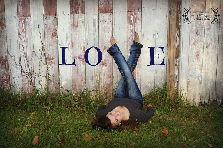 Senior photo session, teen girl pose, love photo