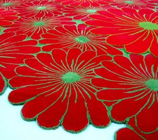 Marvelous Layered Flower Motif Rugs By Piodao Nice Design