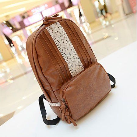 New Brown Latest Lace Nice Backpack