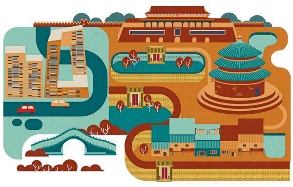 大裤衩 Cities by Jing Zhang, via Behance