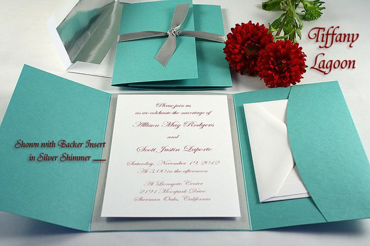 Tiffany Blue Wedding Invitations Kits