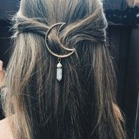 Buy FAN New Fashion Cresent Moon Quartz Prism Charm Hairpin Hair Clips Gifts at …