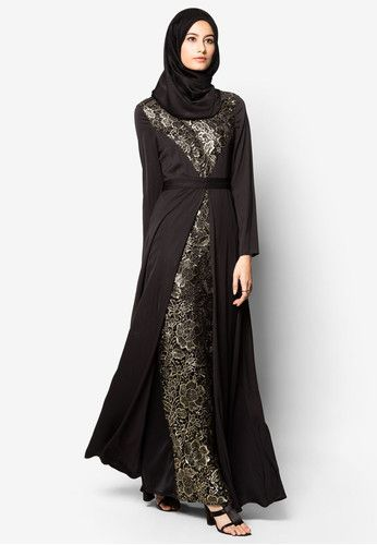 High Collar Regal Lace Dress