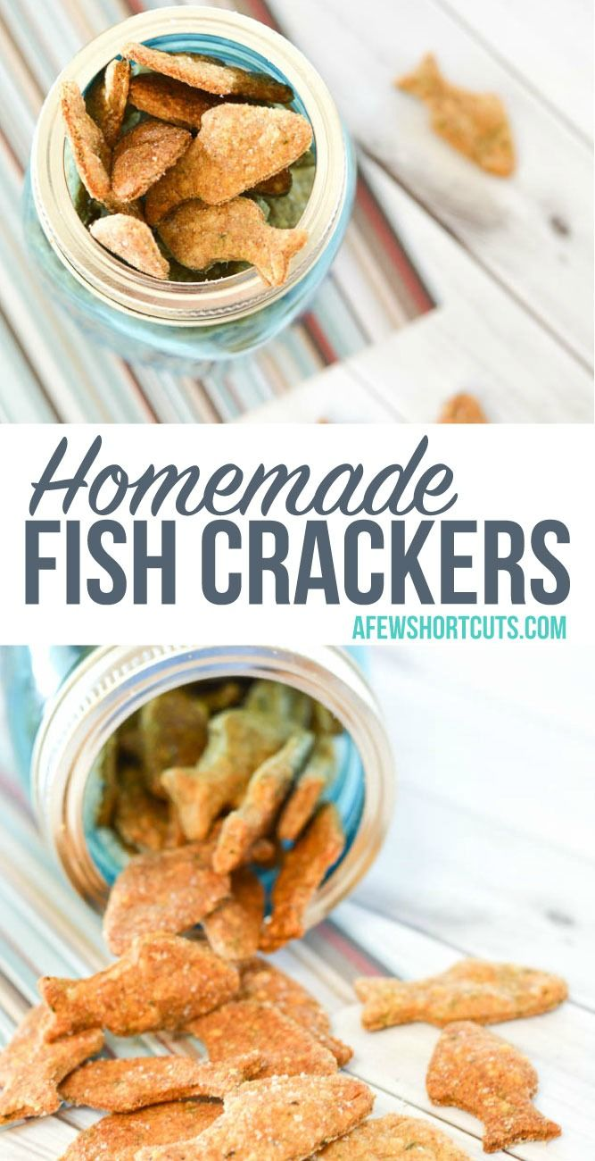 How cute for a summer snack, or shark week! Check out this yummy and simple Homemade Fish Crackers Recipe