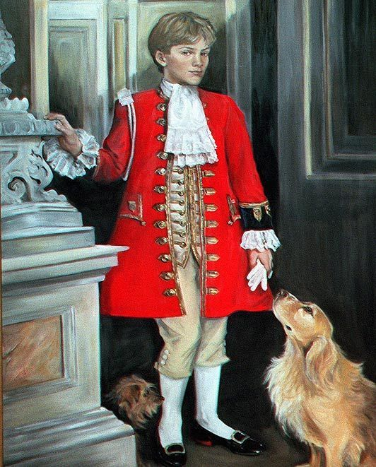 painting, by Katrina Bovill, of Earl George Percy (532×661)