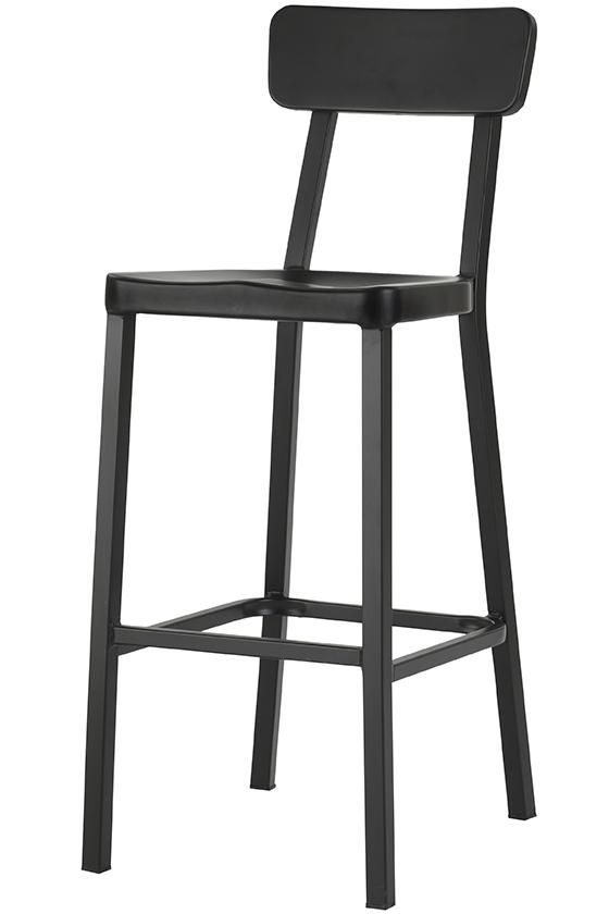 Jacob Stackable Aluminum Bar Stools Set Of 2 Metal