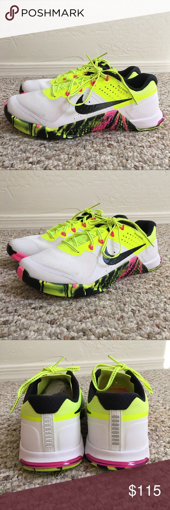 NIKE METCON 2 OC TRAINER RUNNING SHOE BRAND NEW   SHOES ONLY NO BOX  NEVER WORN  WOMENS NIKE METCON 2 OC TRAINER RUNNING SHOE  SIZE 7  COLOR MULTI  SMOKE AND PET FREE HOME Nike Shoes Athletic Shoes