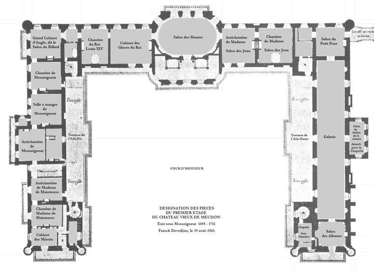 chateau vieux de meudon floor plans castles amp palaces