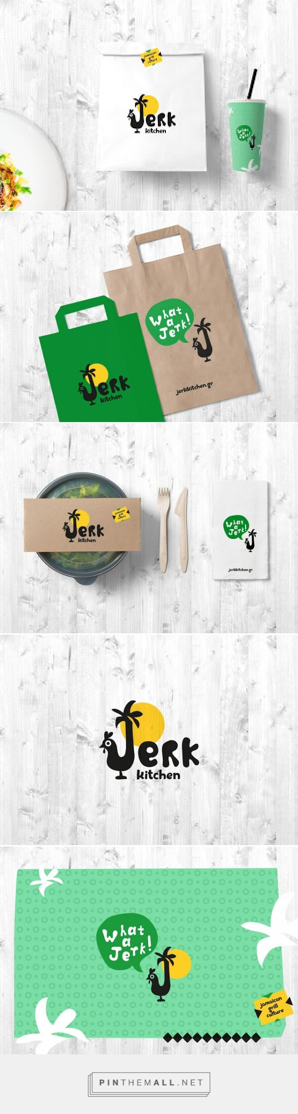 Jerk Kitchen by Sophia Georogpoulou | Design on Packaging of the World curated by Packaging Diva PD. Logo, packaging concept and visual identity for street food restaurant, specialized in jerk style jamaican food, based in Loutraki, Greece  : )