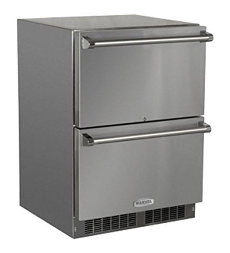 #refrigerators The #Marvel 24 Outdoor Refrigerator Drawerfeatures 6 cu ft or up to133 12-oz cans capacity unit with corrosion-resistant stainless steel exterior ...