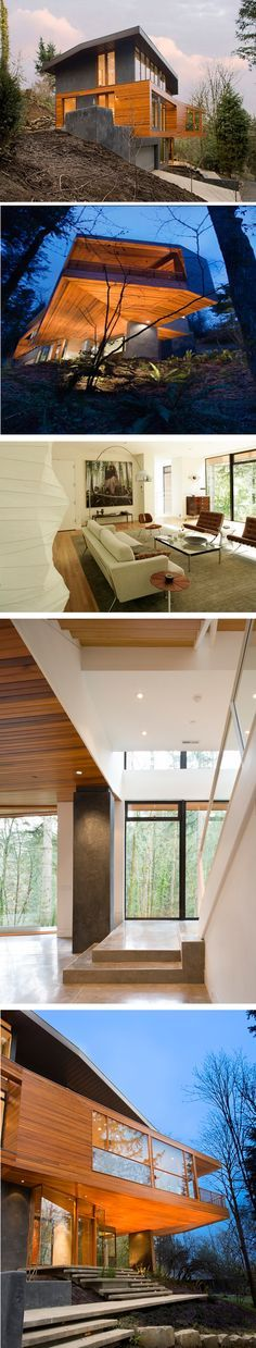 The Hoke House (the Cullen House from Twilight)  Skylab Architecture -  designed by