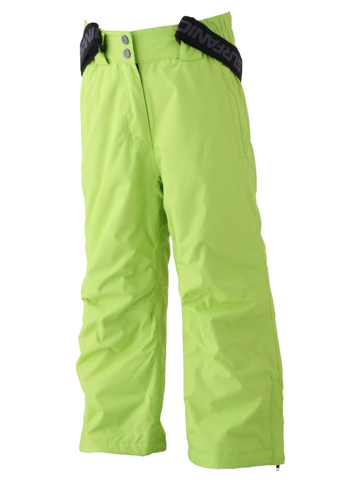 Surfanic Citrus Green Kato Surftex Girls Ski Pants | ski & snowboarding