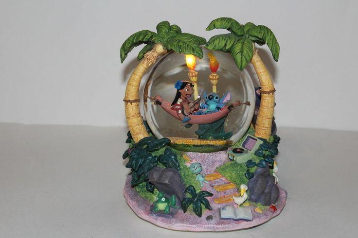 "Disney Lilo And Stitch in Hammock Musical Snow Globe Snowglobe ""Oloha OE"" song | Collectibles, Disneyana, Contemporary (1968-Now) | eBay!"
