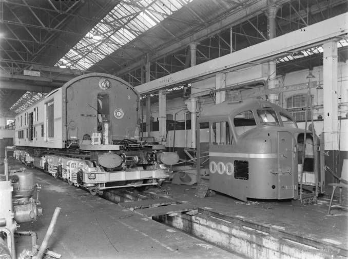 L.M.S. Co-Co diesel electric locomotive No 10000 under construction at Derby…