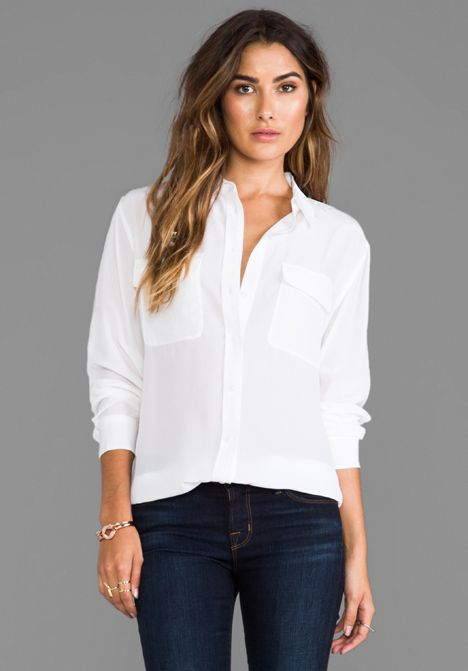 """The """"go-with-everything"""" Signature White Blouse"""