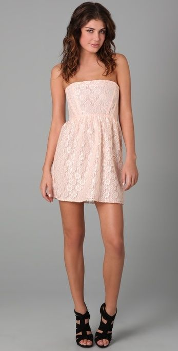 Thayer Dream Strapless Lace Dress thestylecure.com