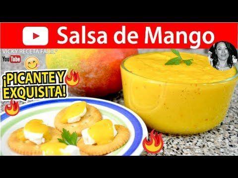 como se hace la salsa de mango - YouTube