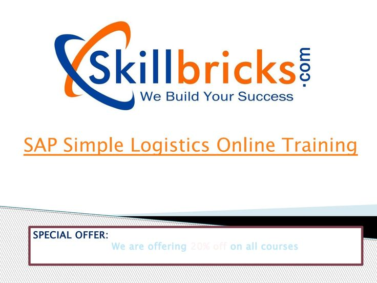 Simple Logistic  with SAP S/4 HANA – a shift SAP Simple Logistics Online Training at SkillBricks