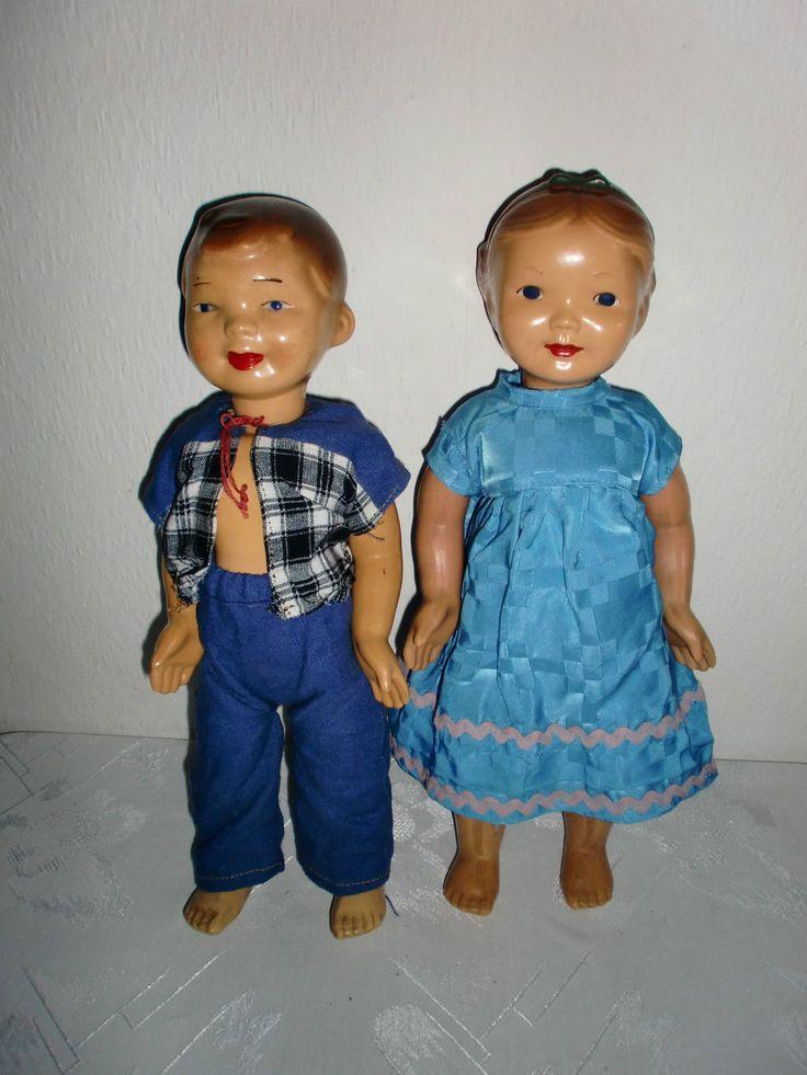 2 alte, seltene, originale Adam Schreyer Puppen (Pärchen) Mädchen, Junge | eBay