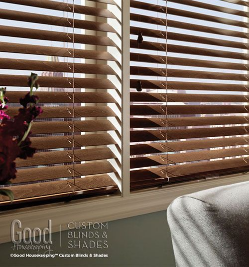 The elegance and versatility of traditional wood blinds combines with the design and reliability of Good Housekeeping.  These superior wood blinds give you all the features you want without the superior price.