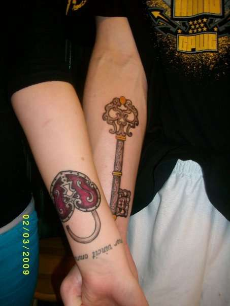 61 best images about his an her tats on pinterest love for Pretty key tattoos