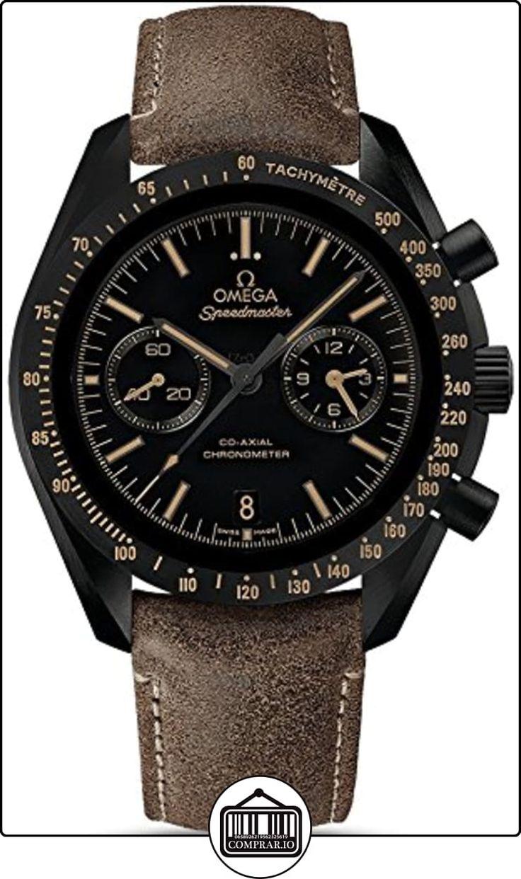 Omega Speedmaster Moonwatch coaxial negro Dial Cronógrafo Automático Mens Reloj 31192445101006  ✿ Relojes para hombre - (Lujo) ✿