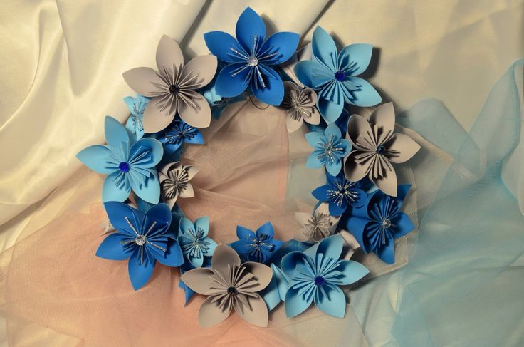 Christmas Wreath Decoration Beautiful icy colors<3