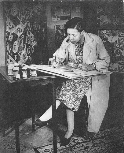 """LOIS MAILOU JONES - November 3, 1905 – June 9, 1998. was an artist who painted and influenced others during the Harlem Renaissance and beyond, during her long teaching and artistic career.  Lois felt that her greatest contribution to the art world was """"proof of the talent of black artists."""" The African-American artist is important in the history of art and I have demonstrated it by working and painting here and all over the world."""" But her fondest wish was to be just known as an """"artist"""""""