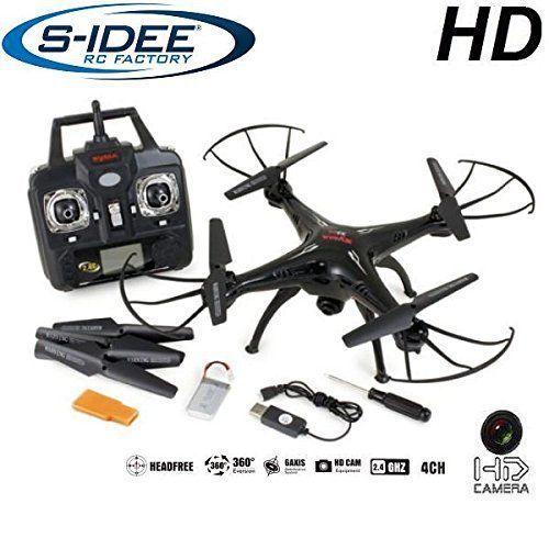 s-idee 01508 Quadrocopter X5SC Explorer Forscher Syma HD Kamera mit Tonaufzeichnung mit Motor-STOPP-Funktion & Akku-Warner, 360� Flip Funktion, Nachfolger vom Syma X5C, 2.4 GHz, 4-Kanal, 6-AXIS Stabilization System