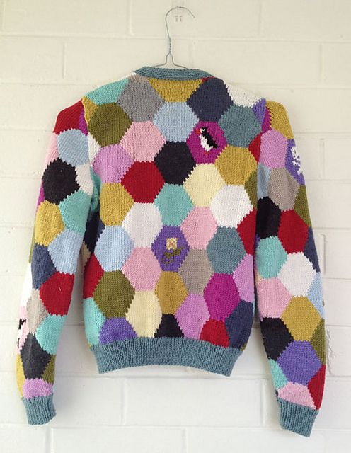 http://www.ravelry.com/projects/Imadeit/hexagon-cardigan