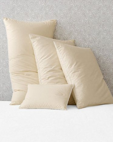 Monte Carlo Goose Down Pillow GH. One of the few feather/down pillows available in boudoir size