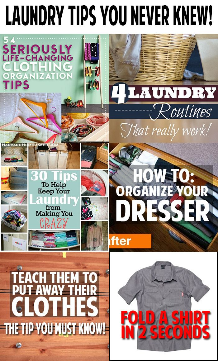 Amazing laundry tips!