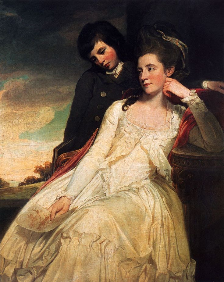 Jane Maxwell, Duchess of Gordon, c 1749-1812. Wife of the 4th Duke of Gordon. (With her son, George Duncan, 1770-1836, Marquess of Huntly, l...