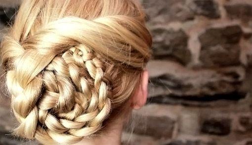Easy Braided Updo Tutorial - hairstyle for medium hair