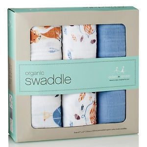 3 Couvertures en coton biologique Into the woods