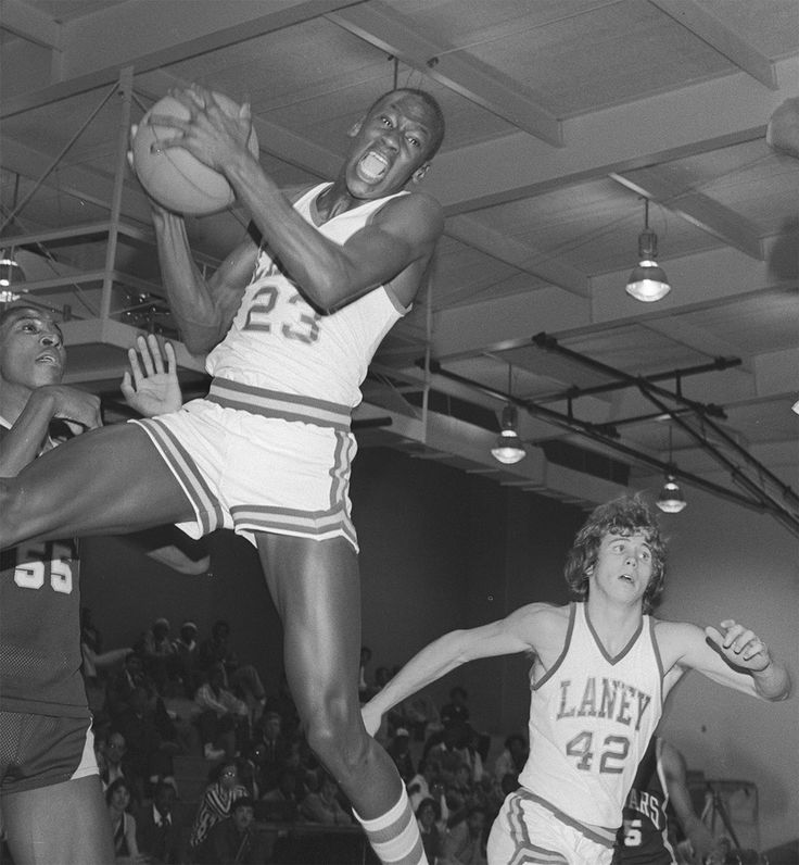 Michael Jordan High School    In his sophomore year of high school at Emsley A. Laney, he tried out for the varsity team.