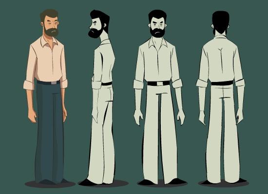 #illustration #man #beard #modelsheet #character #design #artwork